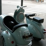 1960 Vespa with sidecar